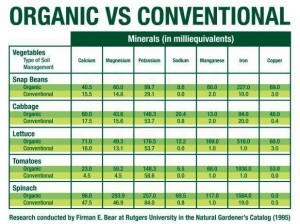 Comparing Organic versus Conventional Produce